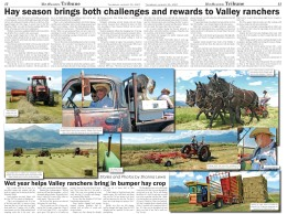 Hay Story and Photos by Shanna Lewis Part 1 of a two part series as published in the Wet Mountain Tribune.