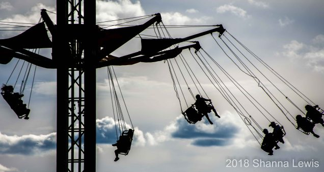 Folks enjoy the carnival rides at the 2018 Colorado State Fair - Photo by Shanna Lewis
